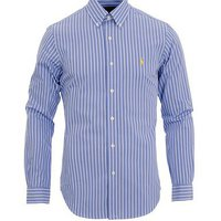 Polo Ralph Lauren Slim Fit Poplin Shirt Wide Stripe Blue