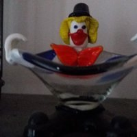 glasskål clown murano