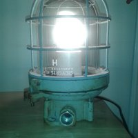 Industridesign Lampa Sieverts Kabelverk -50 tals , Retro, Stream Punk Design.