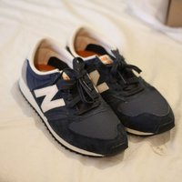 New Balance 420 Navy Vintage Trainers - Navy / UK 7