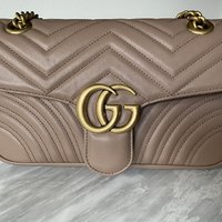 Gucci marmont beige rosa puder small