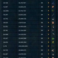 Runescape 3 Maxat account med 1B bank