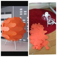 Orange ikea lampa