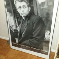 Inramad poster James Dean
