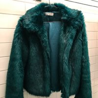 Teal Faux Fur