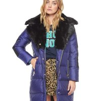 Juice Couture NOVELTY Puffer Faux Fur jacka