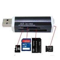 Micro USB 2.0 Memory 4 in 1 Card Reader Adapte Aluminium alloy