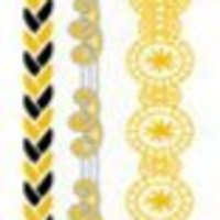 Metallic guld/silver engångs tatuering - metal flash temporary tattoo