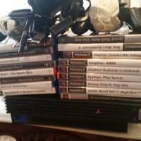 Playstation 2 med 18 spel