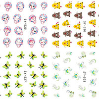 NYTT! 4 ARK Nageldekorationer / 3D Water Transfer Nail Art Stickers 535-538