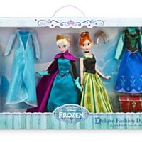 Disney Store Frozen Frost Deluxe Fashion Doll Set Anna Elsa Dockor