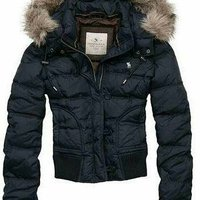 Abercrombie and Fitch Down fur hood jacket