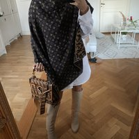 LOUIS VUITTON LEOPARD SJAL SCARF SHAWL ULL WOOL