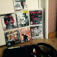 Ps3 super slim med 7 spel