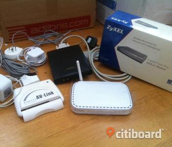 2 st Router - NetGear, Zyxel, Av- link Wireless, data/fax modem