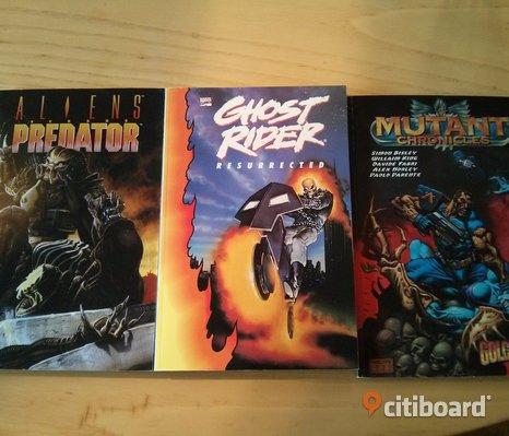 Amerikanska Seriealbum Ghost Rider, Aliens vs Predator och Mutant Chronicles