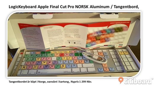 LogicKeyboard Apple Final Cut Pro NORSK Aluminum / Tangentbord Lessebo