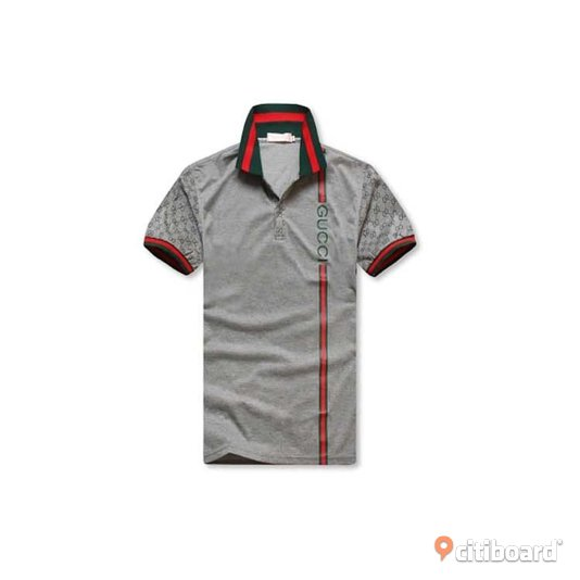 Gucci Polo Shirt Gray/Black Uppsala Uppsala Sälj
