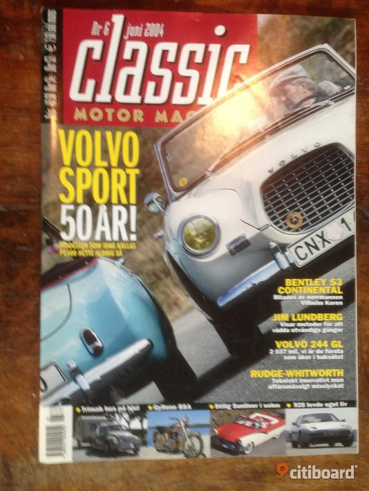 CLASSIC Motor Magasin.  nr 6,  2004. Stockholm
