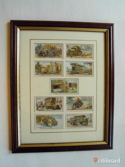 Military Motors. Wills Cigarettes. 9 st Samlarkort. Reprint.
