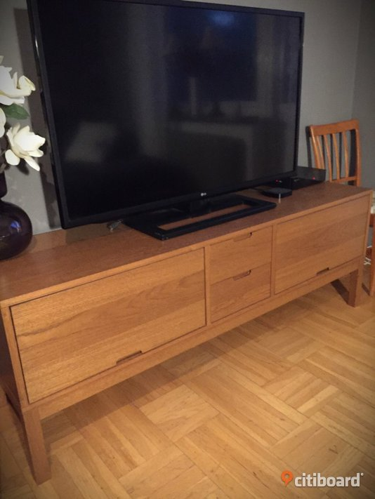 fin ikea stockholm tv b nk i ek ume citiboard. Black Bedroom Furniture Sets. Home Design Ideas