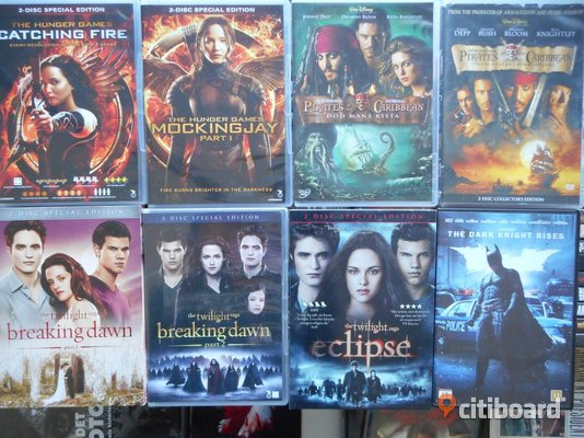 DVD FILM 8 bästa filmerna (Mocking Jay, Twilight, Pirates,Batman) Sollentuna
