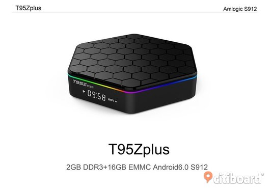 95z Plus Amlogic S912 Octa-core 2G DDR3 RAM 16G