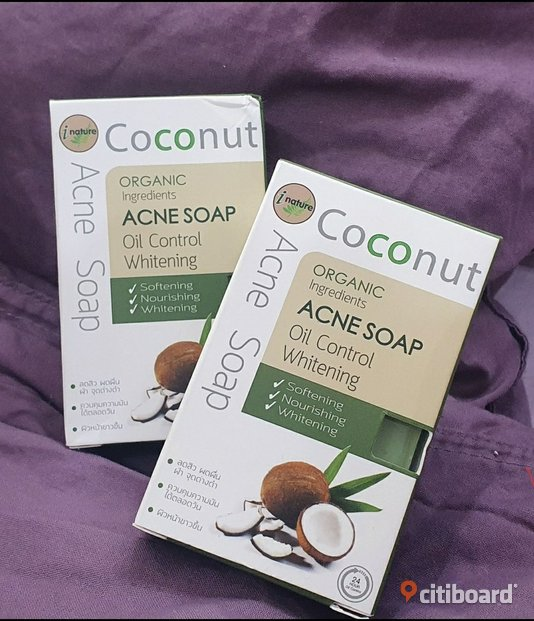 iNature - Coconut Soap, Acne Soap (kokostvål) Mode Södermanland Gnesta Sälj