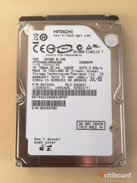 "Hitachi 160gb 2.5"" internal laptop hdd Stockholm"