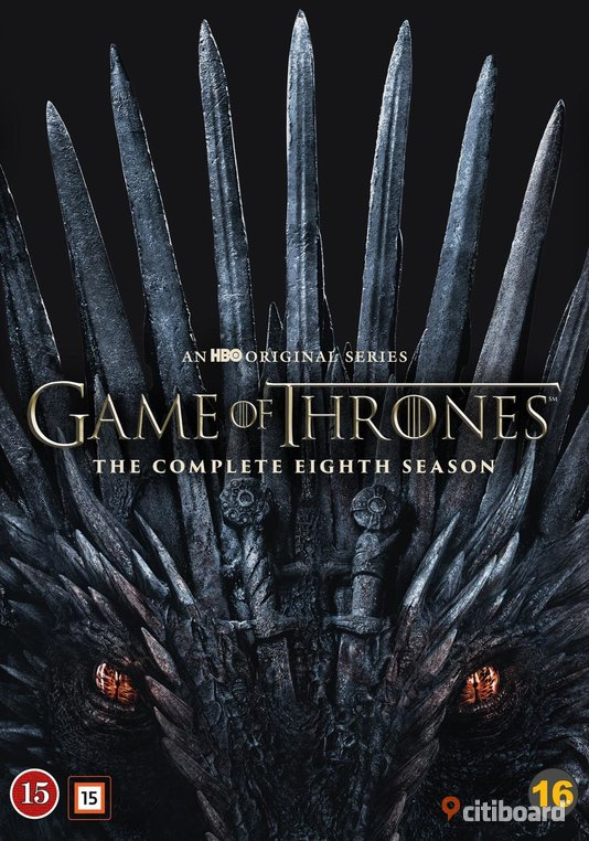 Game of Thrones. Säsong 8. DVD. NY DVD & VHS filmer Eskilstuna