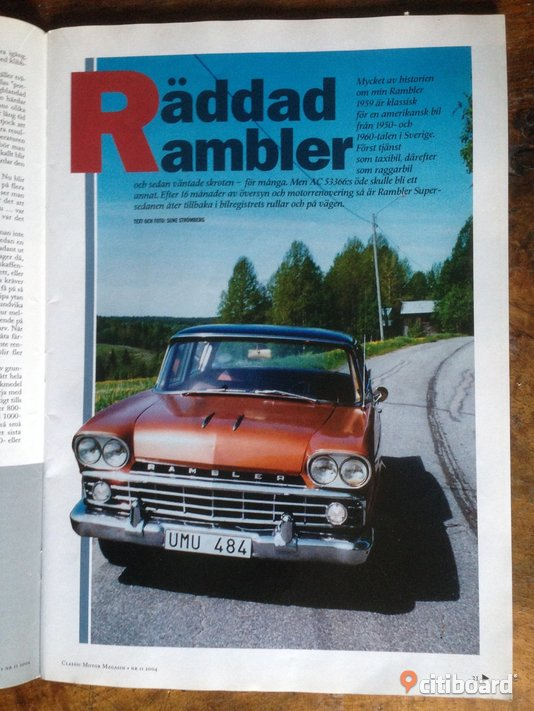 CLASSIC Motor Magasin.  nr 11, 2004 Fordon Stockholm