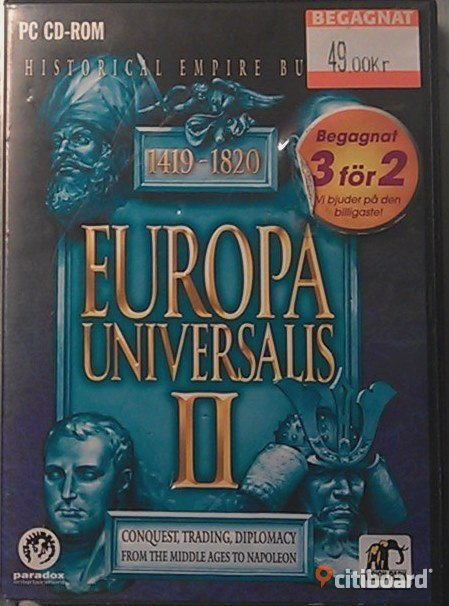 Europa Universalis II - PC game - Political strategy game