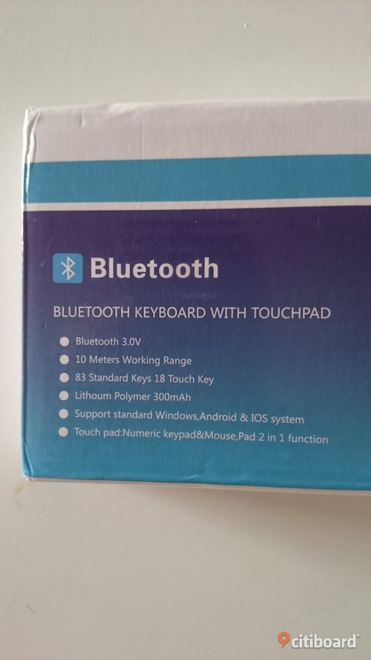 Slim Touch Mini Bluetooth V3.0 Touchpad Keyboard Elektronik Västra Götaland Lidköping