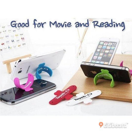 Touch-U One-touch Silicone Kickstand Holder Stand for Cell Phone iPhone Samsung