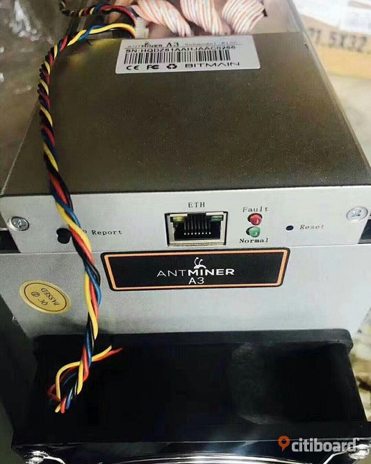 Antminer A3 Miner - Siacoin Blake(2b) - 815 GH/s med PSU Gotland