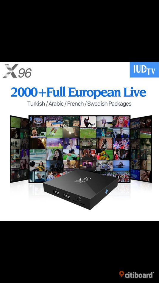 Smart TV Box | Android 6.0 | X96 All Indian Pakistani  afghan  world channels  Arab Bangladesh Sollentuna