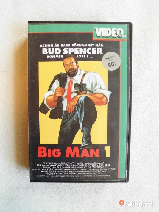 Big Man 1. Video Express. Vhs 1988. Bud Spencer. Eslöv