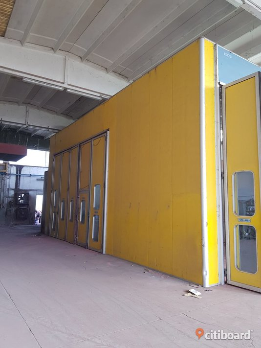 Used paint booth size 12x5x5 meters (n.6) Fordon Stockholm