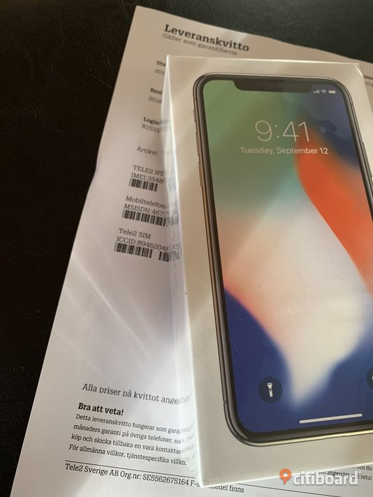 Oöppnad Iphone X 64gb silver Stockholm