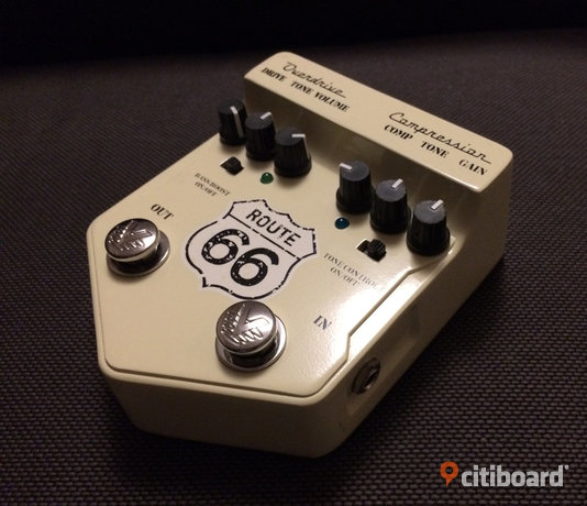 Visual Sound Route 66 V2 drive+comp pedal Malmö
