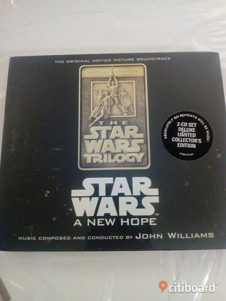 3st cd sound track star wars trilogy 4,5,6 special edition limited 2disc CD box - nya inplastade USA IMPORT Haninge