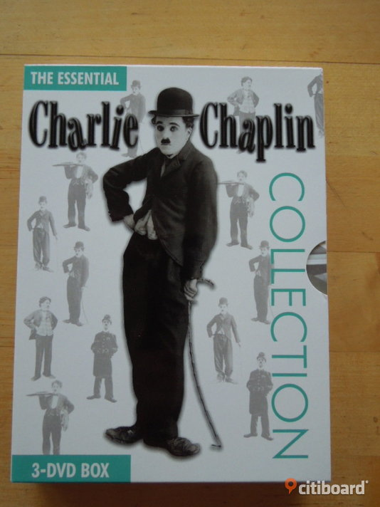 The Essential Charlie Chaplin Collection - 3 DVD Box Stockholm