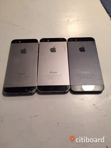 2 Iphone 5s och 1 Iphone 5
