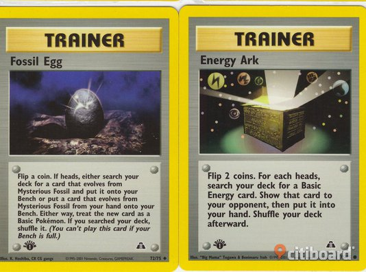 Pokémon 1st Generation Trainer Trading Cards.