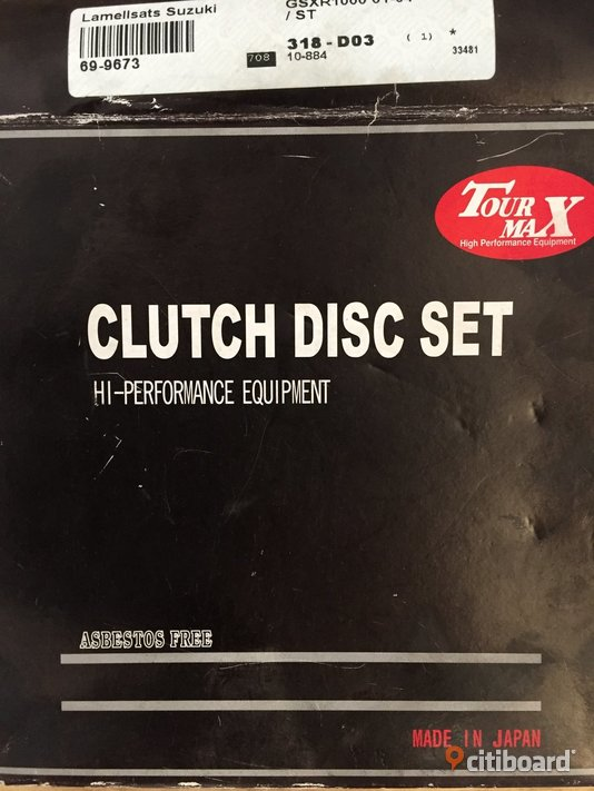 Suzuki Clutch Disc Set - Tour Max Borgholm