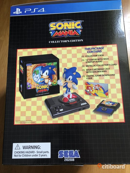 Sonic Mania Collector Edition PS4 Norrköping