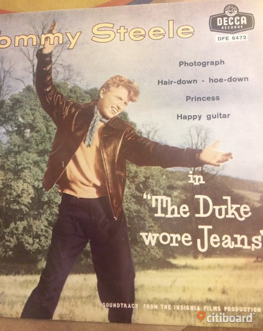 EP Vinyl Tommy Steele the Duke wore jeans