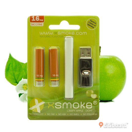 Startpaket E-cigarett Crispy Apple Light 16mg Nikotin Östergötland Mjölby