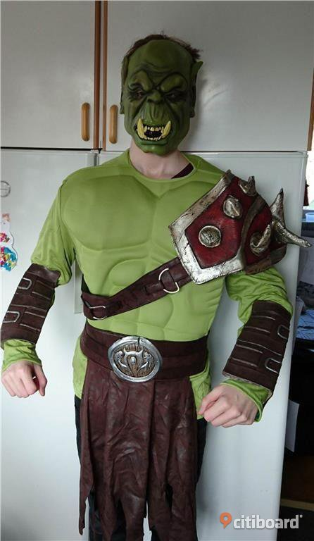 WORLD OF WARCRAFT ORC WARRIOR MASKERADDRÄKT! Uppsala