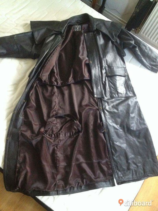 Duster leather trenchcoat strl XL  Kristinehamn